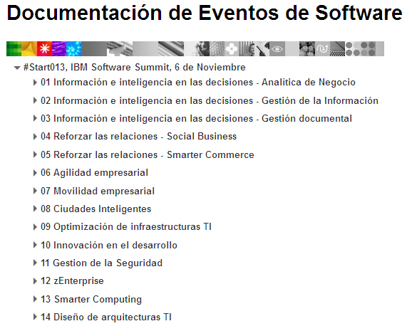 Documentación #Start013, IBM Software Summit